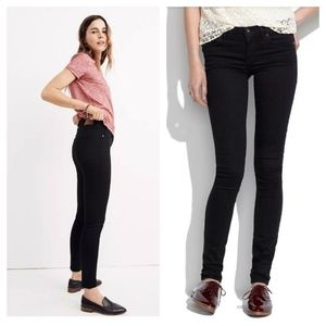 """NEW Madewell 8"""" Skinny Black Jeans - Size 27"""